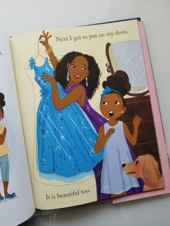 "Right: Example of single-page bleed; from ""A Night Out with Mama"" by Quvenzhané Wallis"