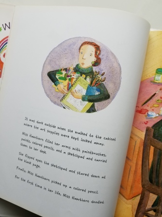 "Left: Example of vignette; from ""Willow"" by Denise Brennan-Nelson and Rosemarie Brennan"